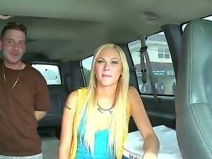 Tara Lee is all alone in the bang bus along three horny hot males ready to...