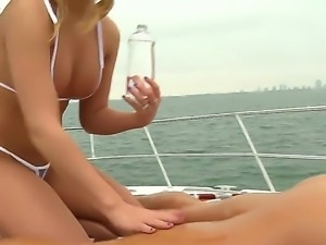 Allexis,Jmac and Roxy are taking advantage of a super horny boat trip together