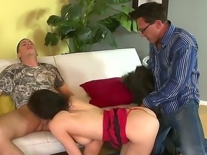 Alex Gonz,Diana Prince and Marco Banderas in nasty threesome fuck session