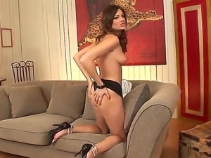 Sweet woman Kyla Fox strips in front of the camera demonstrating all parts of...