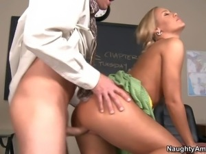 Nicole Aniston is the most naughty girl in the class.