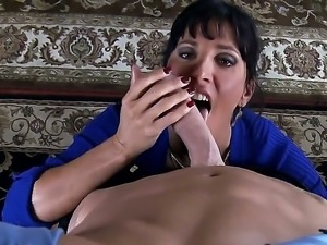 Johnny Sins manages to seduce and deep penetrate milf Lezley Zen and make her...