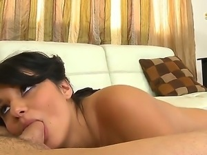 Pierced sweetie with tiny bubbles Christina Moure gets her insatiable pussy...