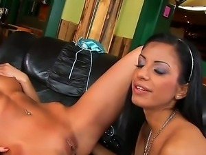 Backstage action with a nasty babe Kissy and her girlfriend Kyra Black
