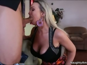 Abbey Brooks gives head to her new neighbor before she