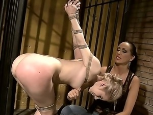 Enjoy wild bdsm games of two dirty lesbians Mandy Bright and Nesty