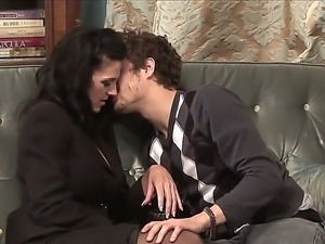 Seductive Roxanne Hall flirts with Xander Corvus and he is so horny and ready...