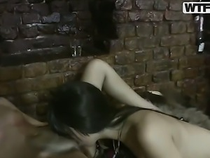 Dissolute college orgy in a club with sexy student girls turns in the best...