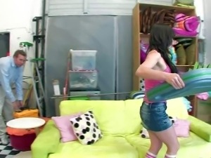 Jennifer White is one dirty babysitter that is so sexy