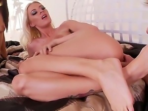Sexy slut blondies with their elastic wet pussy fucked doggy.