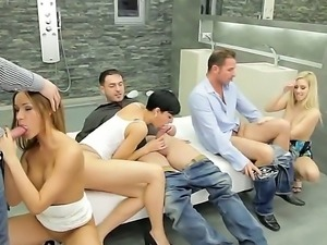 enjoy group sex scene with Coco de Mal, David Perry, Irina Bruni, James...