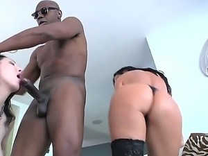 India Summer and Ray Veness are having a wild interracial hardcore fuck together
