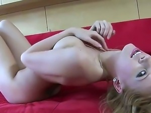 Carmen Gemini loves to feel her big tits bouncing while she is playing with...