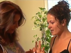 Elexis Monroe hesitates to joyn Rachel Steeles lesbian adventure, but her...