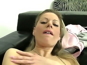 Stunning Silvia A is showing Rocco Siffredi how she likes to pump her pussy...