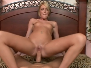 This POV porn video features pretty small titted blonde Riley