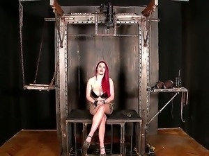 Delicious redhead Paige Delight with appetizing forms gets punished sweet by...