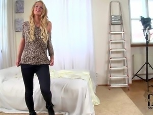 Chelsey Lanette is a charming blond-haired newbie with alluring smile.