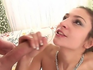 Crazy horny and slutt chick Mia Leone loves to feel hot and fresh semen on...