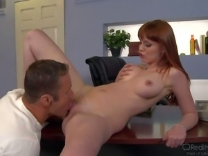 Marie McCray is a acute red-haired babe. She is naked
