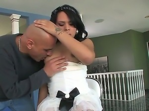 Amazing Asian shemale Naughty Nadia having fun with Vin Deacon making him...