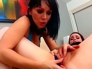 Charming milf RayVeness is teaching young Tessa Lane the beautiful art of...