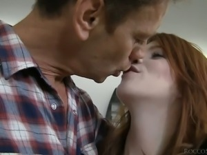 Cute redhead Roxy Rush is Rocco's next sweet girl. She