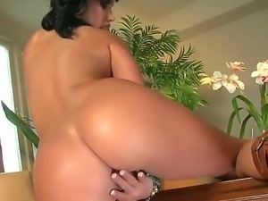Sexy Jada with nice round boobs loves it as she teases her body rubbing her...