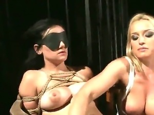 Threesome BDSM action with a naughty girlfriend Estella and Kathia Nobili