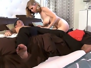The appetizing blonde pornstar Penny Pax gets licked and sucks a huge instrument