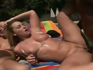 Great group scene at the open air with hot and sexy Flower Tucci, Justin...