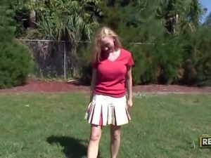 Madison Scott is a playful young cheerleader with blond hair