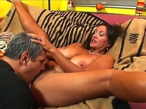 Curvy Persia Monir seduces her young neighbour and dominates over him all...