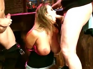 Mark Davis and John Strong fucking hard poor pretty girl Trina Michaels in...