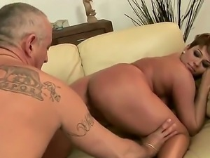 Short haired lady with hot temperament named Catwoman demonstrates passionate...