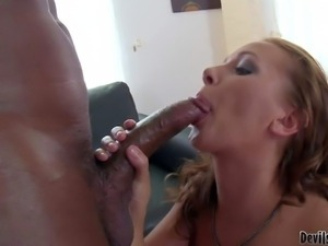 Roxy M has interracial hardcore experience with well hung guy.