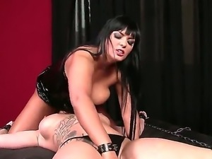 Enjoy lesbian bdsm hardcore with mind-blowing Jasmine Black and Paige Delight
