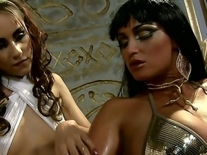 Queen Kathia Nobili is demanding that Leyla Black gives her a good massage or...