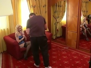 Famous milf Silvia Saint with smoking hot curvy body and pale blonde slut...