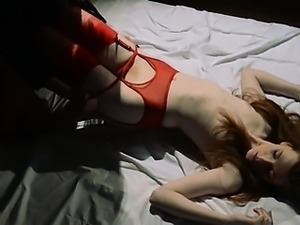Unique lezzs in pantyhose using strap