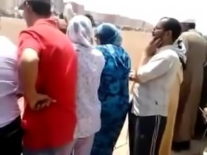 Crazy guy touching dick on the muslim women
