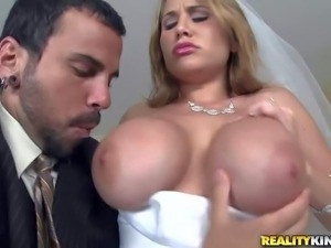 Alanah Rae is one dirty big breasted bride with appetite