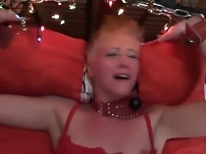 Take a look at provocative short-haired blonde hoochie Cassidy getting cruely...