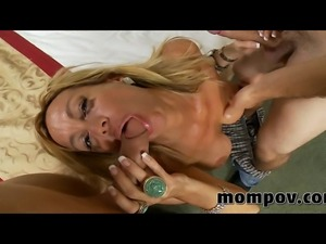 Two young cocks fuck milf at the same time