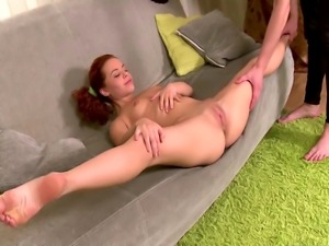 Flexible ginger 18y sucks and fucks cock and cant get enough