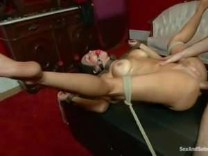 gagged milf tied and fucked