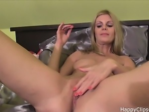 Jenna takes off her uniform and plays with her pussy