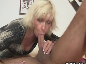 My blonde mother in law seduces me into sex