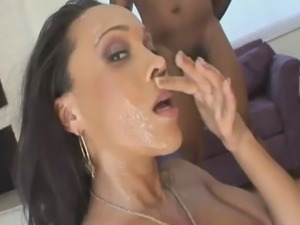 Ebony sweetie Cassidy Clay fucked hard in the group sex scene