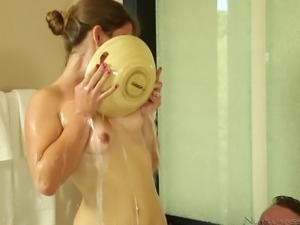 bathing with a cutie